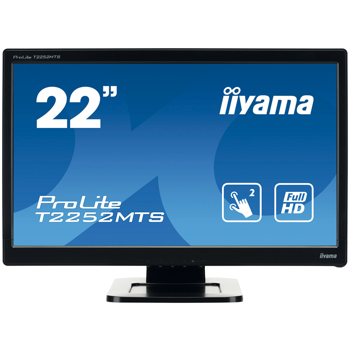 "Ecran PC iiyama 21.5"" LED Tactile - ProLite T2252MTS-B3 1920 x 1080 pixels - Tactile MultiTouch - 2 ms - Format large 16/9 - HDMI - Noir"
