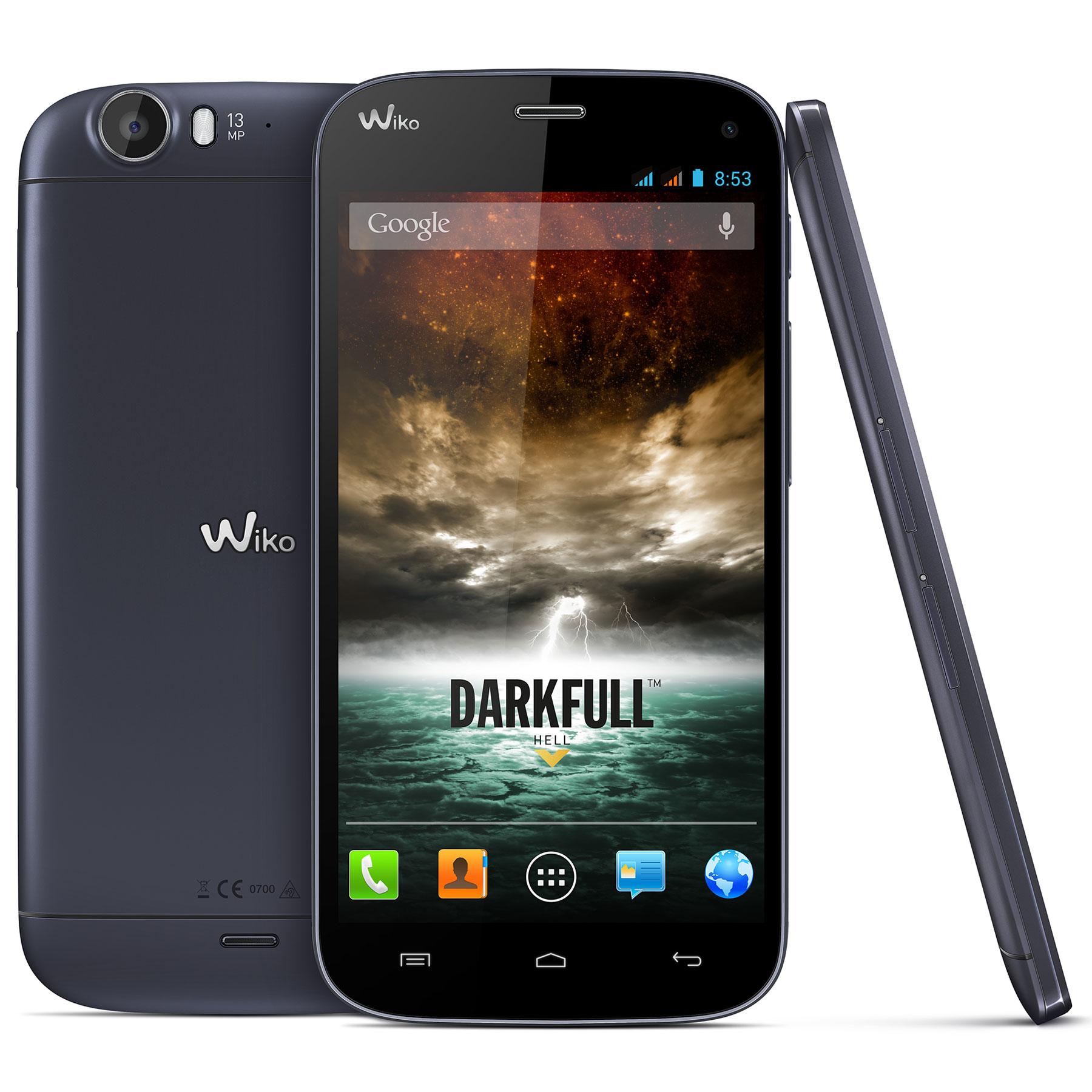 """Mobile & smartphone Wiko Darkfull Dark Blue Smartphone 3G+ Dual SIM avec écran tactile Full HD 5"""" sous Android 4.2"""