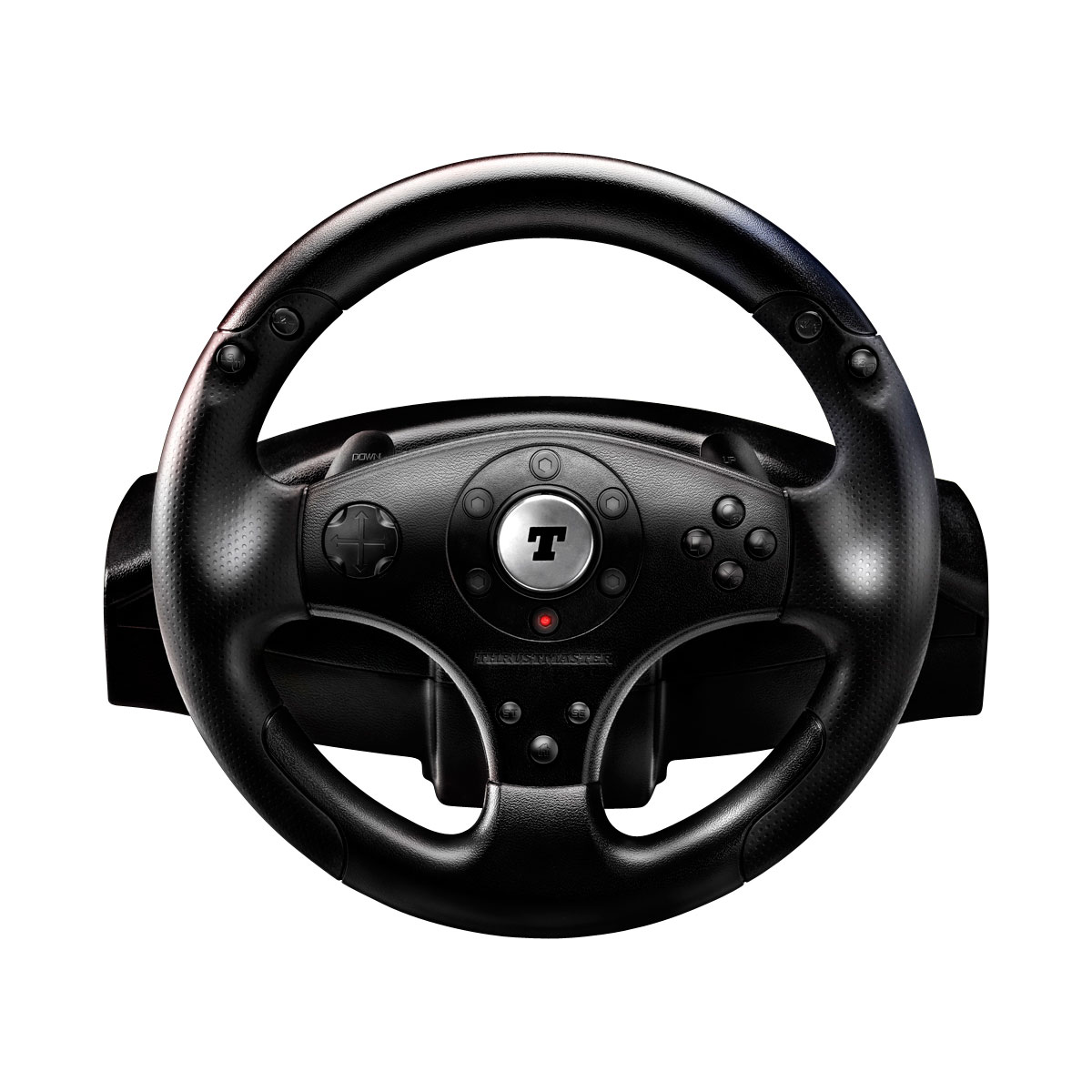 thrustmaster t100 force feedback racing wheel volant pc thrustmaster sur ldlc. Black Bedroom Furniture Sets. Home Design Ideas