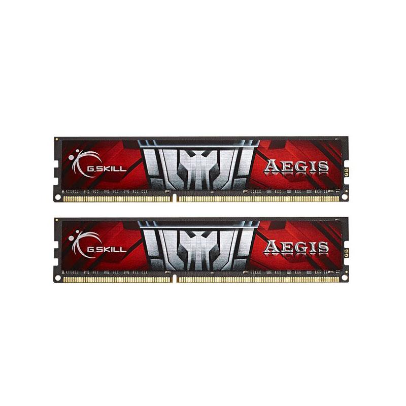 Mémoire PC G.Skill Aegis Series 8 Go (2 x 4 Go) DDR3 1600 MHz CL11 RAM DDR3 PC3-12800 - F3-1600C11D-8GIS (garantie à vie par G.Skill)