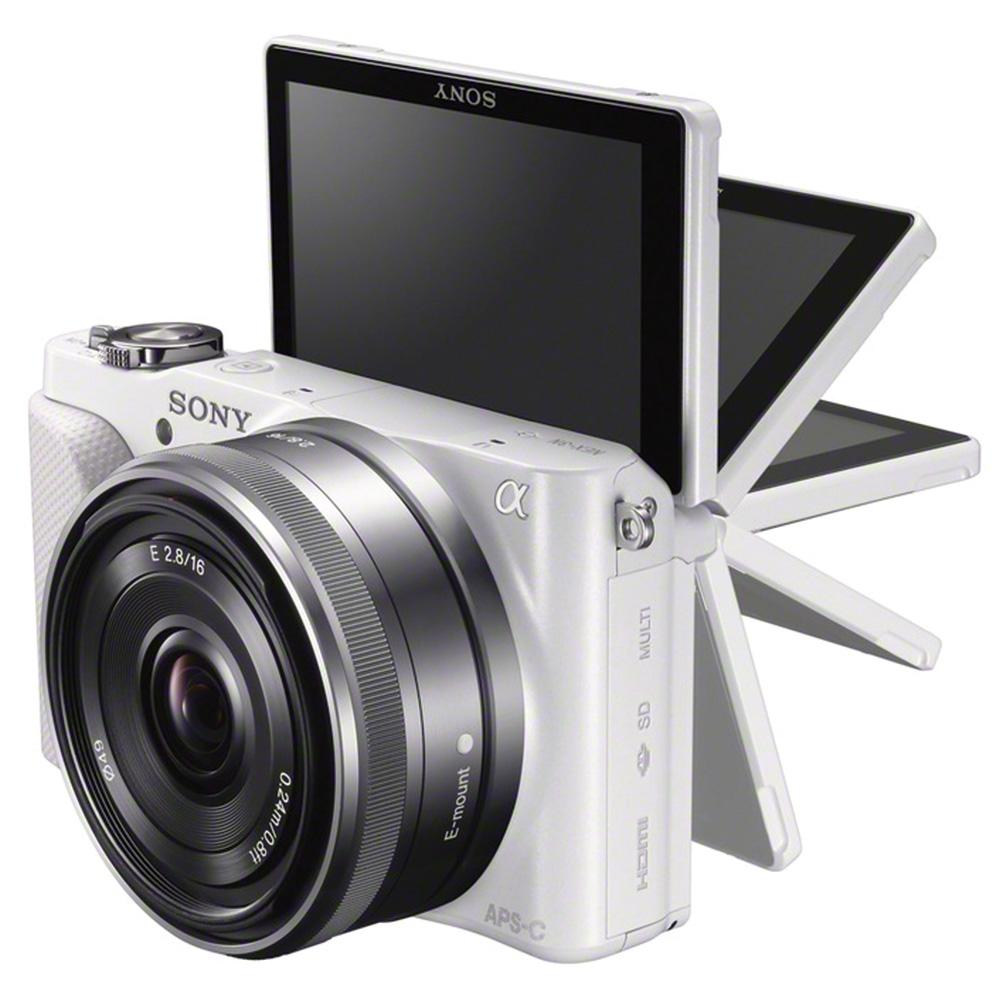 Sony nex 3nl blanc avec objectif 16 50mm housse lcs ejc3 for Housse appareil photo hybride
