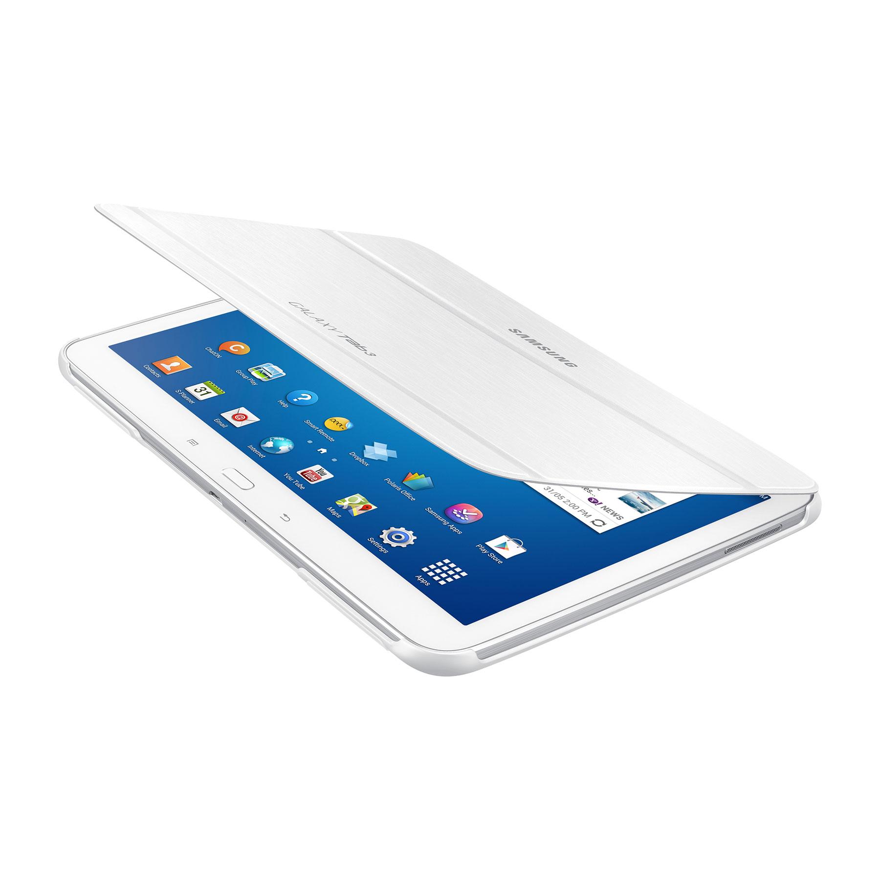 "Accessoires Tablette Samsung Cover EF-BP520B White (pour Samsung Galaxy Tab 3 10.1"") Etui rabat pour Samsung Galaxy Tab 3 10.1"""