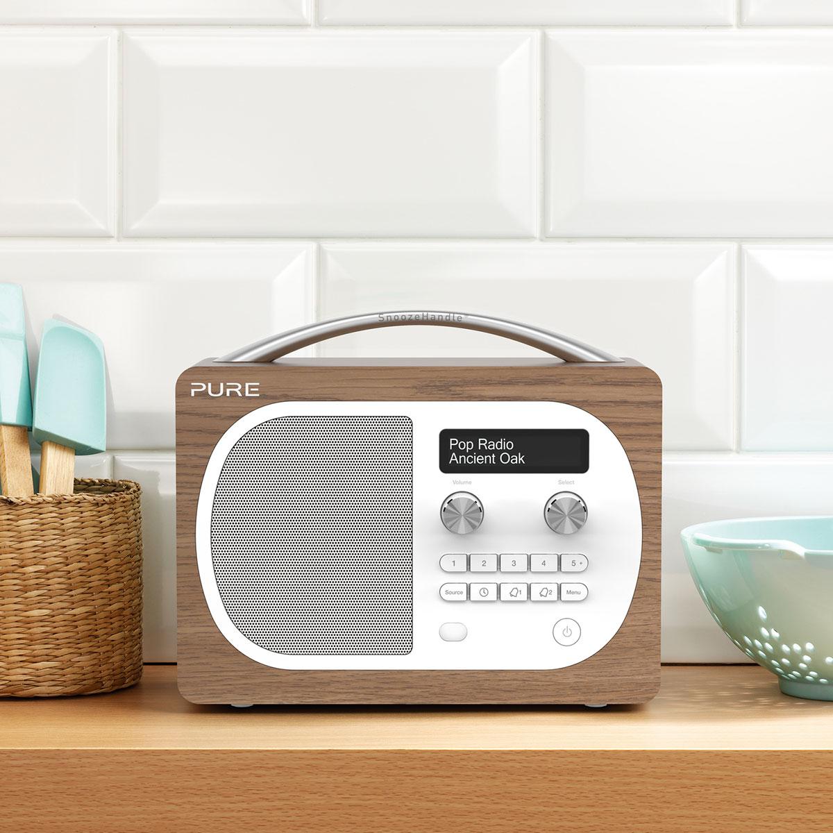 Pure Evoke D4 Oak (VL62227)  achat  vente Radio & radio  ~ Radio Reveil Bois