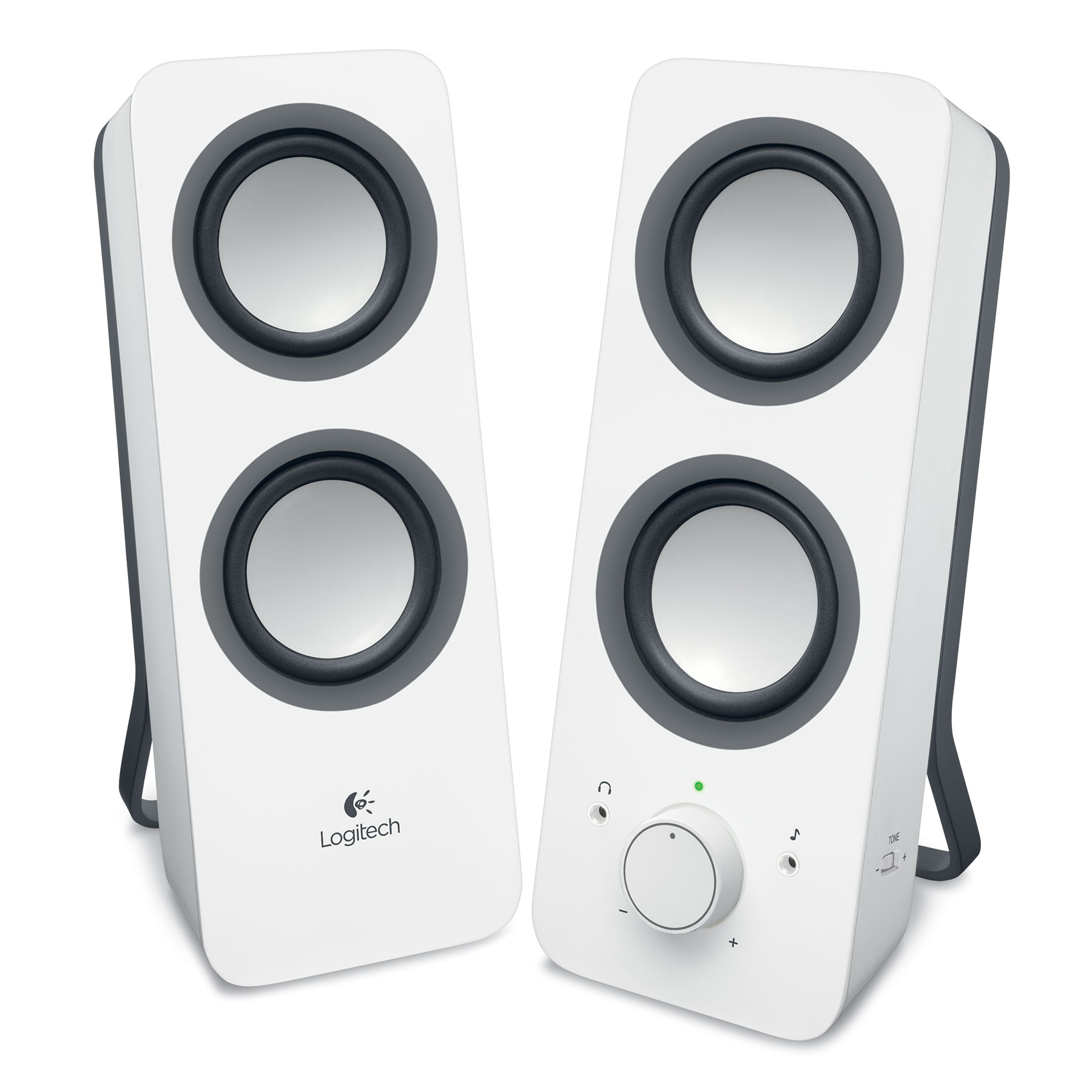 logitech multimedia speakers z200 blanc enceinte pc logitech sur ldlc. Black Bedroom Furniture Sets. Home Design Ideas