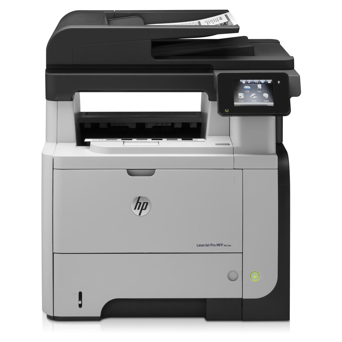 Imprimante multifonction HP LaserJet Pro M521dn Imprimante multifonction laser monochrome (USB 2.0 / Ethernet)
