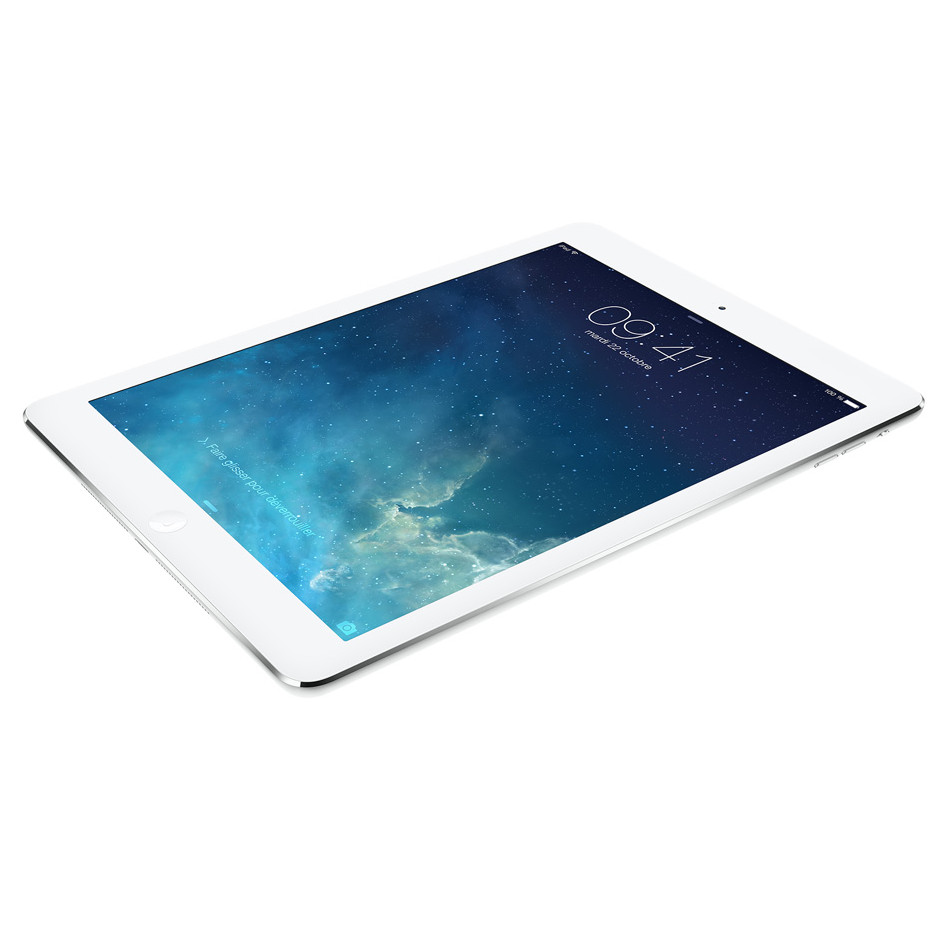 "Tablette tactile Apple iPad Air Wi-Fi + Cellular 16 Go Argent Tablette Internet 4G-LTE - Apple A7 1.3 GHz 1 Go - 16 Go 9.7"" LED tactile Wi-Fi N/Bluetooth Webcam iOS 7"
