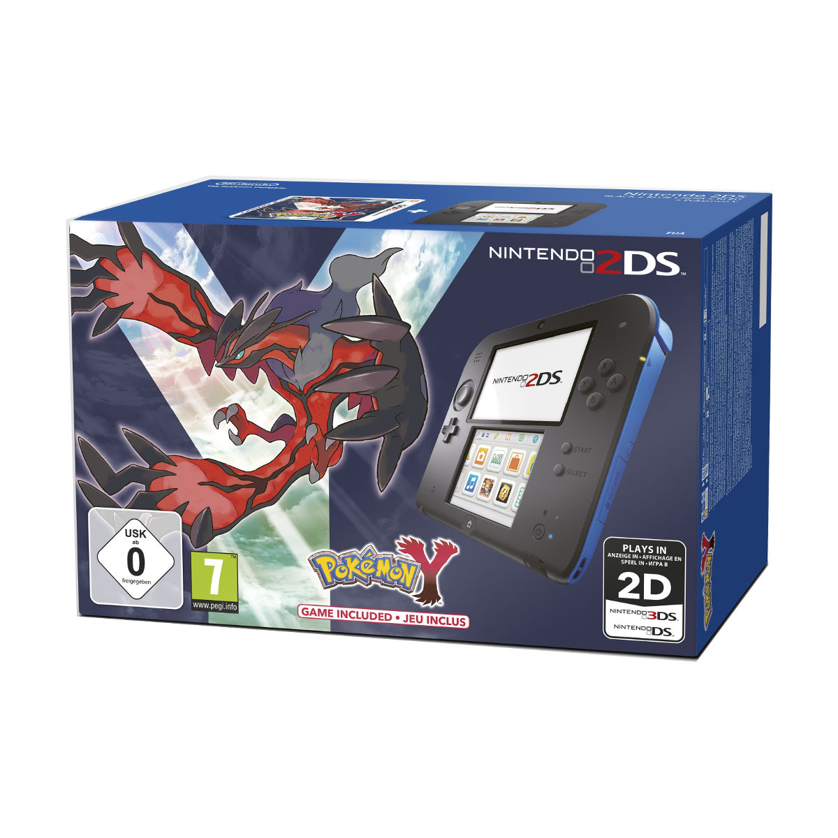 Nintendo 2ds Noir Bleu Pokemon Y Console Nintendo 3ds Nintendo Sur Ldlc