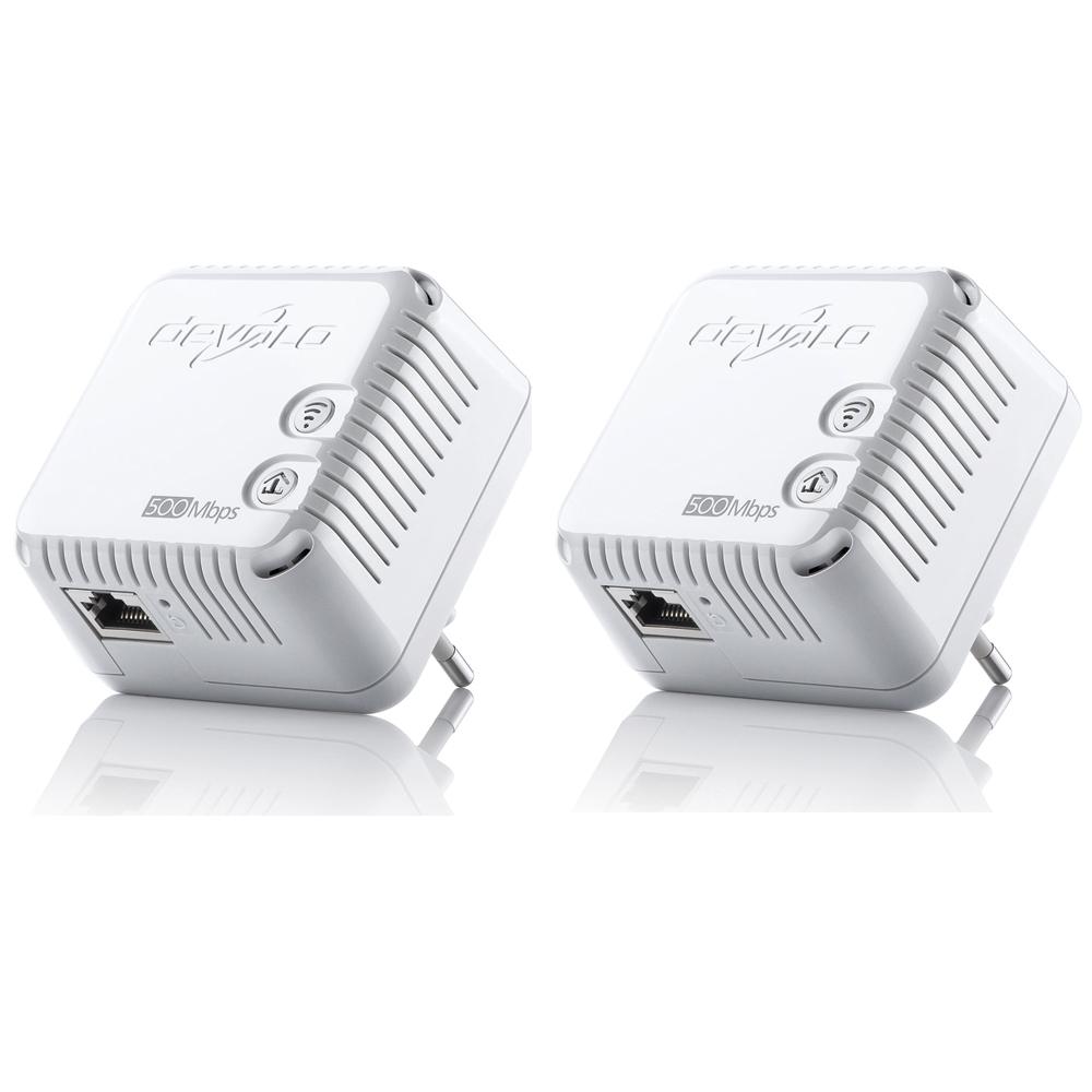 CPL Devolo dLAN 500 Wi-Fi x2 Lot de 2 adaptateurs CPL 500 Mbps Wi-Fi N