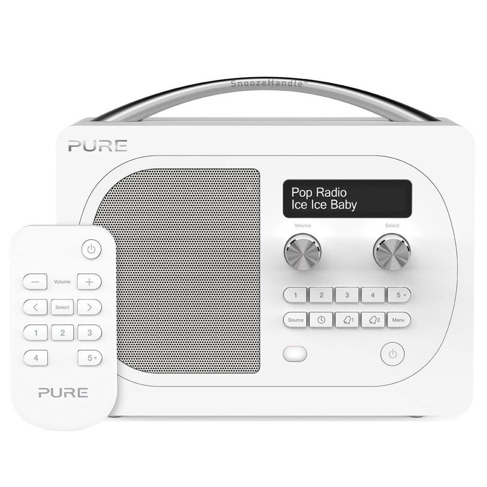 Pure evoke d4 blanc glacier radio radio r veil pure for Radio numerique portable