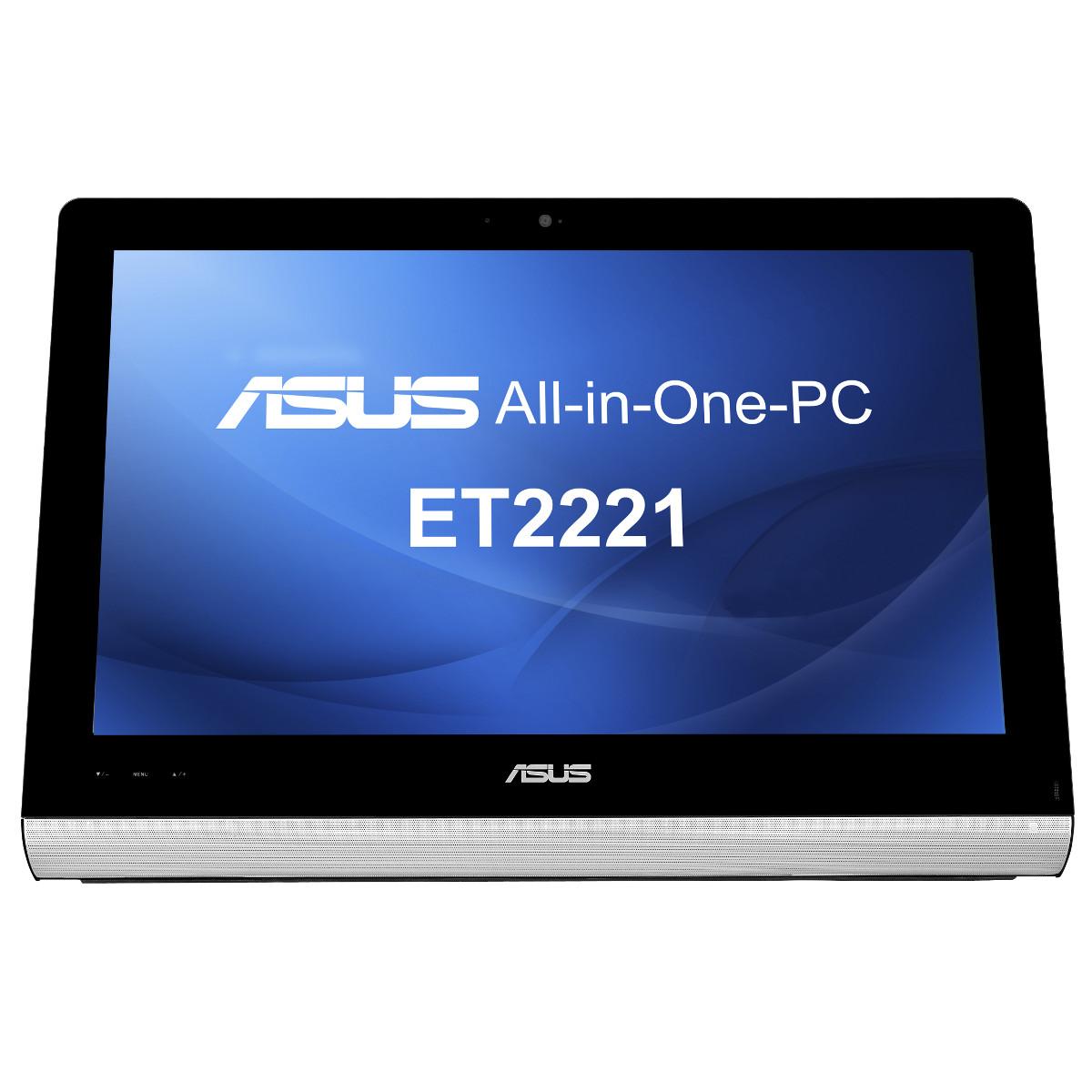 """PC de bureau ASUS All-in-One PC ET2221IUTH-B007L Intel Core i3-4130T 4 Go 1 To LED 21.5"""" Tactile Graveur DVD Wi-Fi N Webcam Windows 8 Pro 64 bits"""
