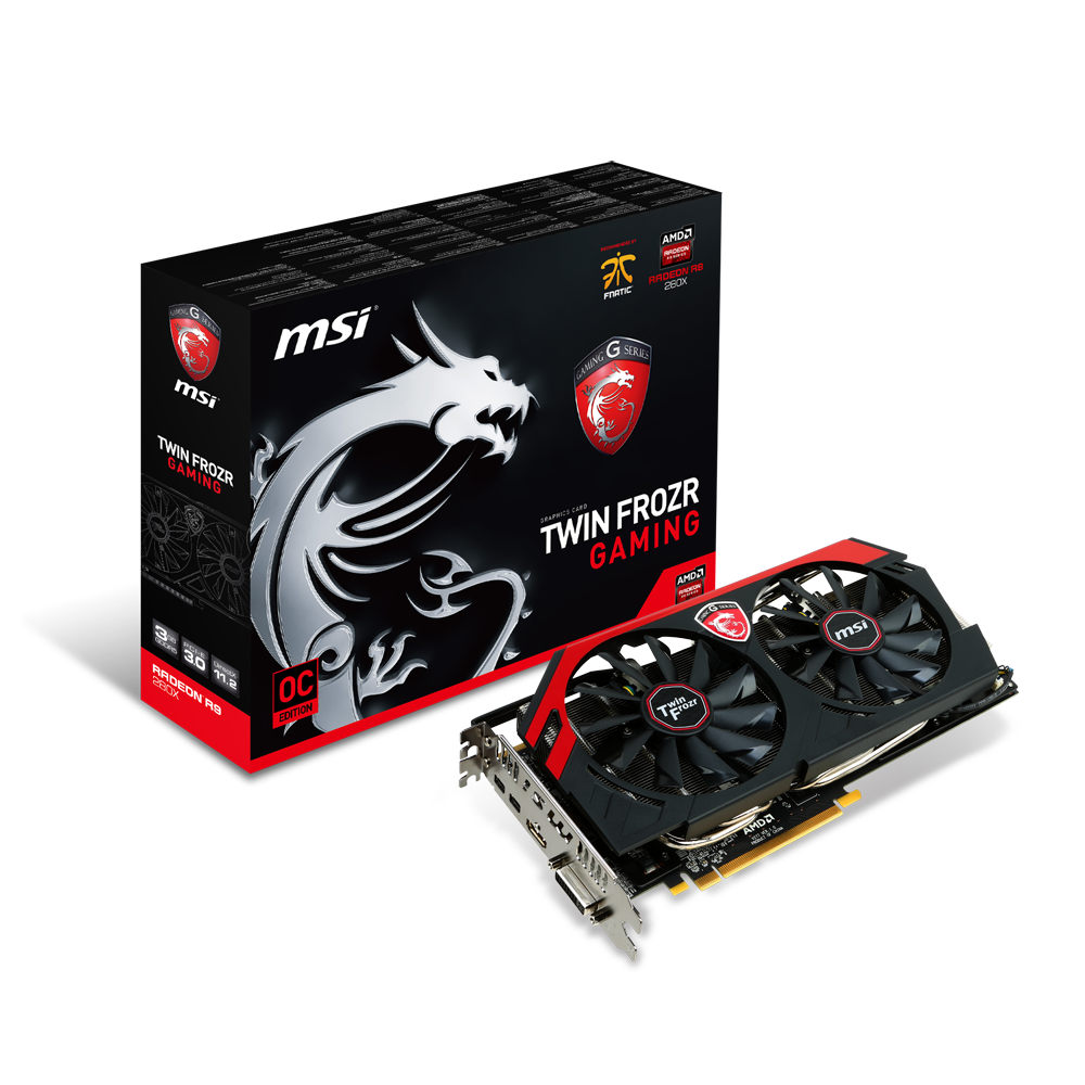Carte graphique MSI Radeon R9 280X GAMING 3G 3 Go DVI/HDMI/Dual Mini-DisplayPort - PCI Express (AMD Radeon R9 280X)