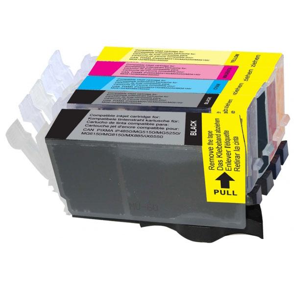 Cartouche imprimante LDLC pack économique compatible Canon PGI-525 PGBK / CLI-526 (BK + C + M + Y) Lot de 5 cartouches compatibles (2 noires + 1 cyan + 1 magenta + 1 jaune)