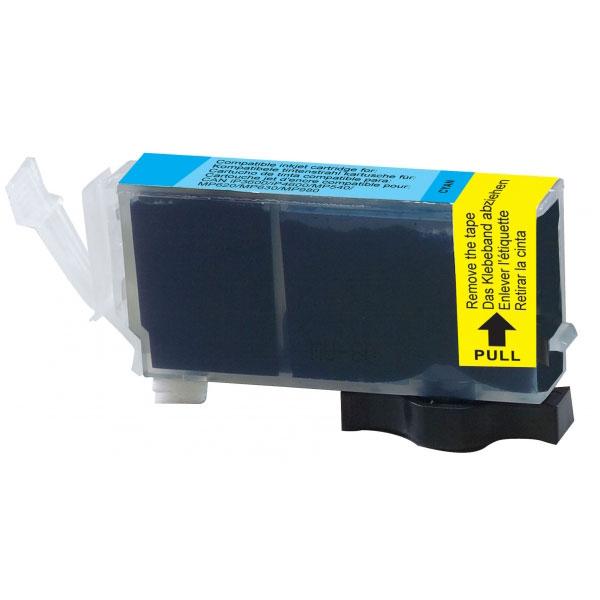 Cartouche imprimante Cartouche compatible CLI-521C (Cyan) Cartouche d'encore cyan compatible Canon CLI-521 C