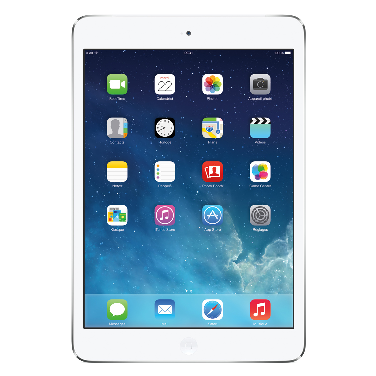 "Tablette tactile Apple iPad mini 2 Wi-Fi 32 Go Argent Tablette Internet - Apple A7 1.3 GHz 1 Go 32 Go 7.9"" LED tactile Wi-Fi N/Bluetooth Webcam iOS 7"