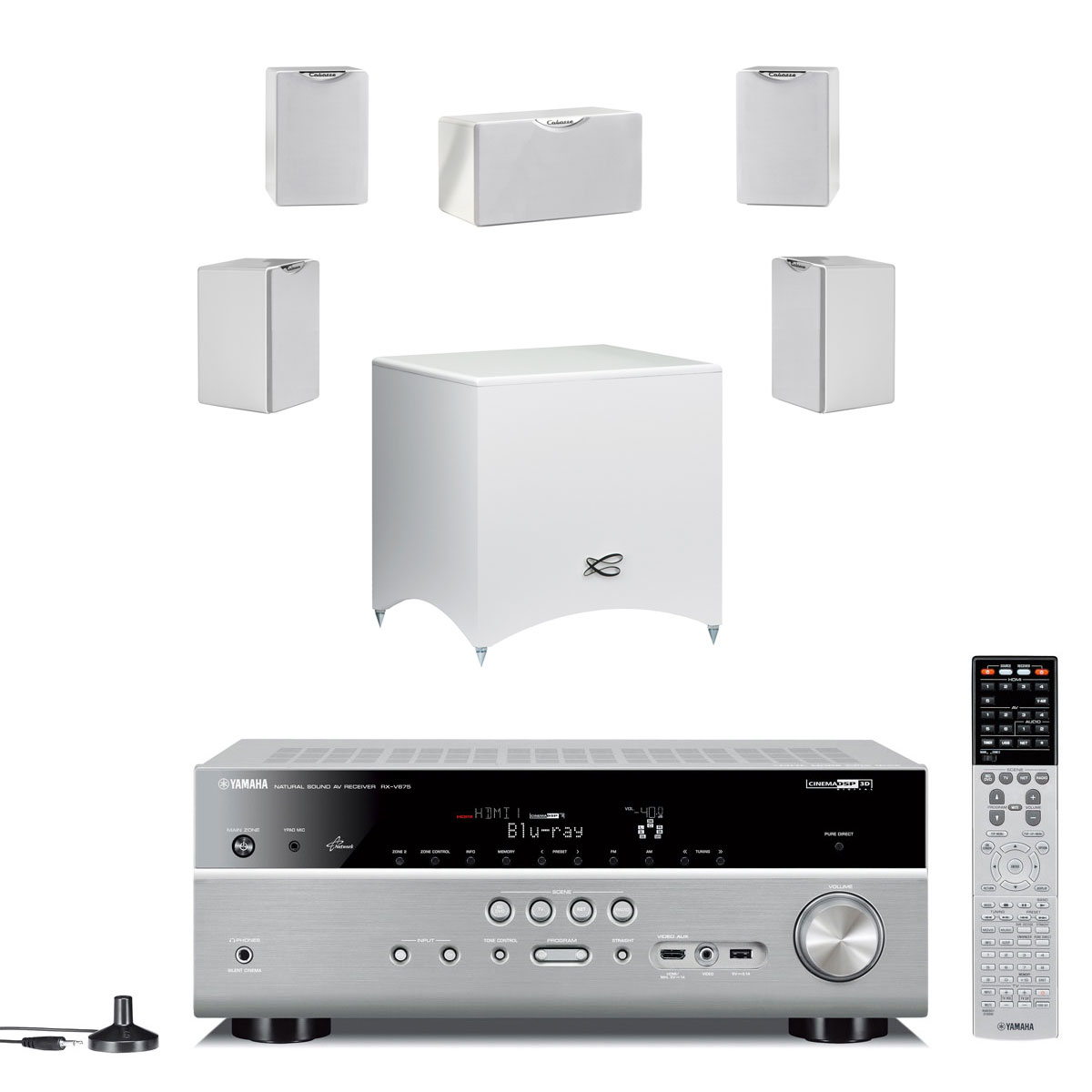 Cinema Blanc # Meuble Tv Avec Home Cinema Integre