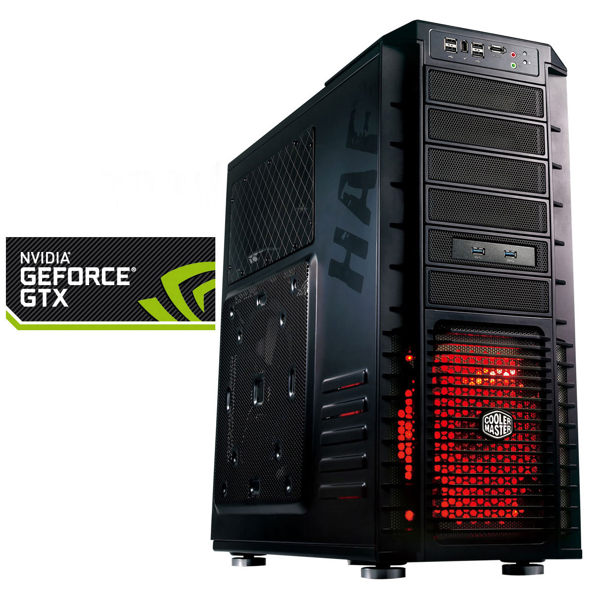 PC de bureau LDLC PC7 Alastor (Haswell) Intel Core i5-4670K 8 Go SSD 120 Go + HDD 2 To NVIDIA GeForce GTX 760 2 Go Graveur DVD Windows 7 Premium 64 bits