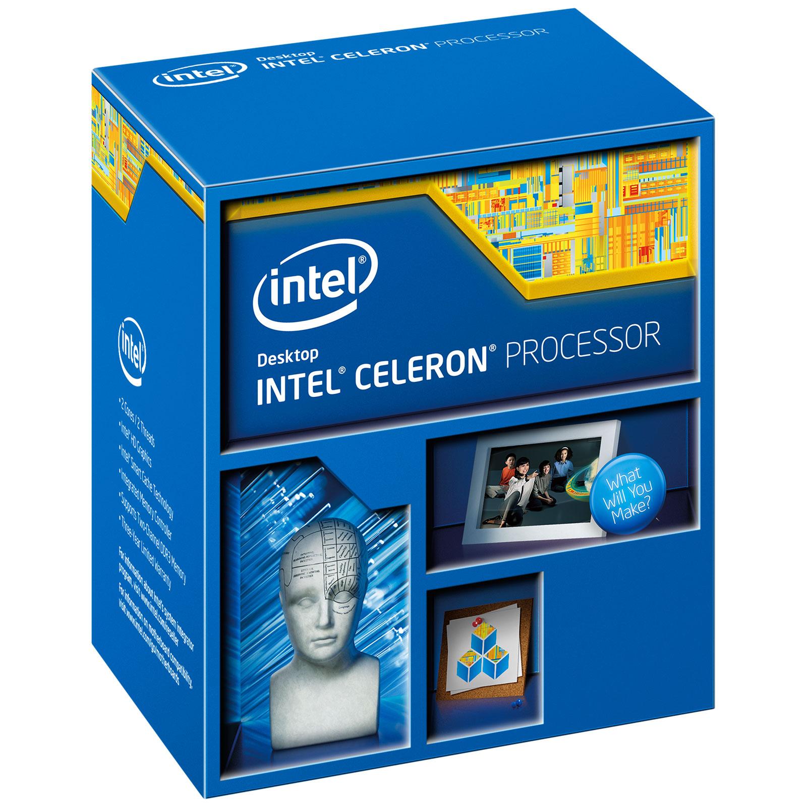 Processeur Intel Celeron G1850 (2.9 GHz) Processeur Dual Core Socket 1150 Cache L3 2 Mo Intel HD Graphics 0.022 micron (version boîte - garantie Intel 3 ans)