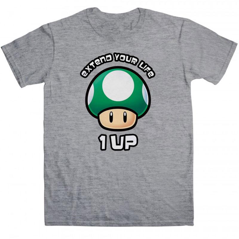 Jeux et Accessoires T-Shirt 1UP Extend Your Life taille M T-Shirt Gris 1UP