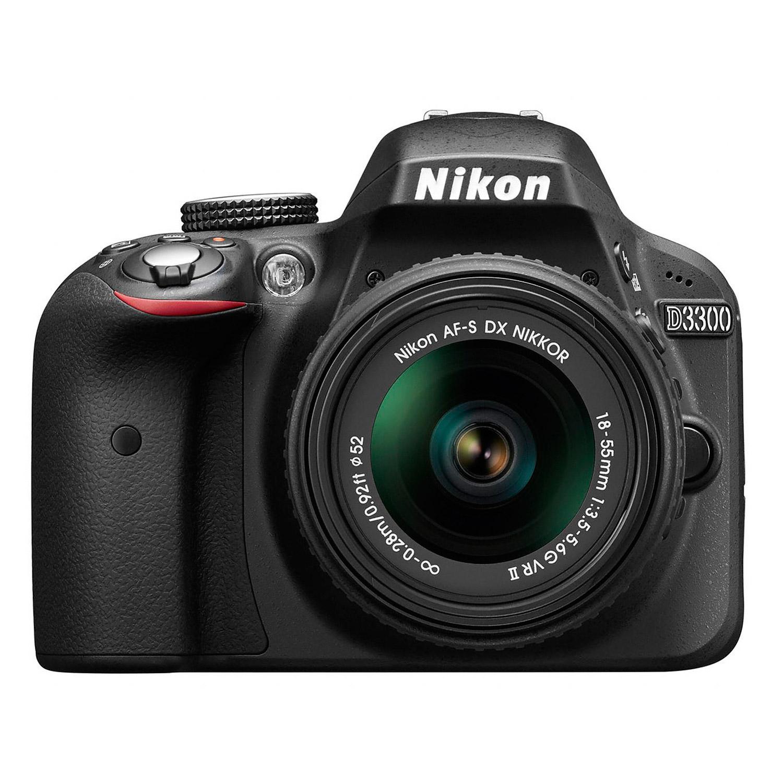 """Appareil photo Reflex Nikon D3300 + AF-S DX Nikkor 18-55mm f/3.5-5.6G VR II  Réflex Numérique 24.2 MP - Ecran 3"""" - Vidéo Full HD + Objectif  AF-S DX Nikkor 18-55mm VR II"""
