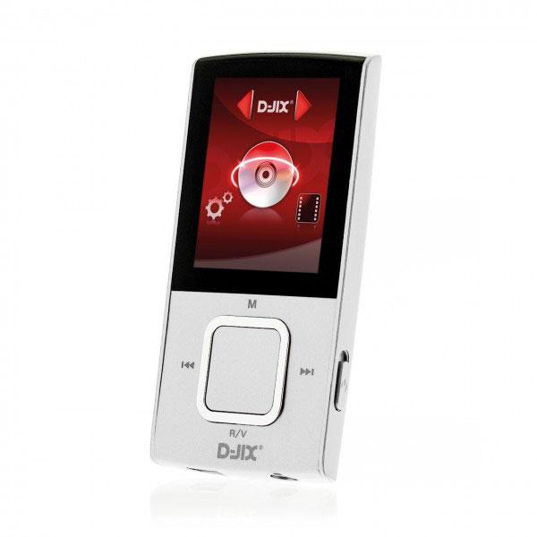 """Lecteur MP3 & iPod D-Jix M340 4 Go FM Blanc Lecteur MP3 4 Go - Ecran 1.8"""" - Radio FM - Micro SD"""