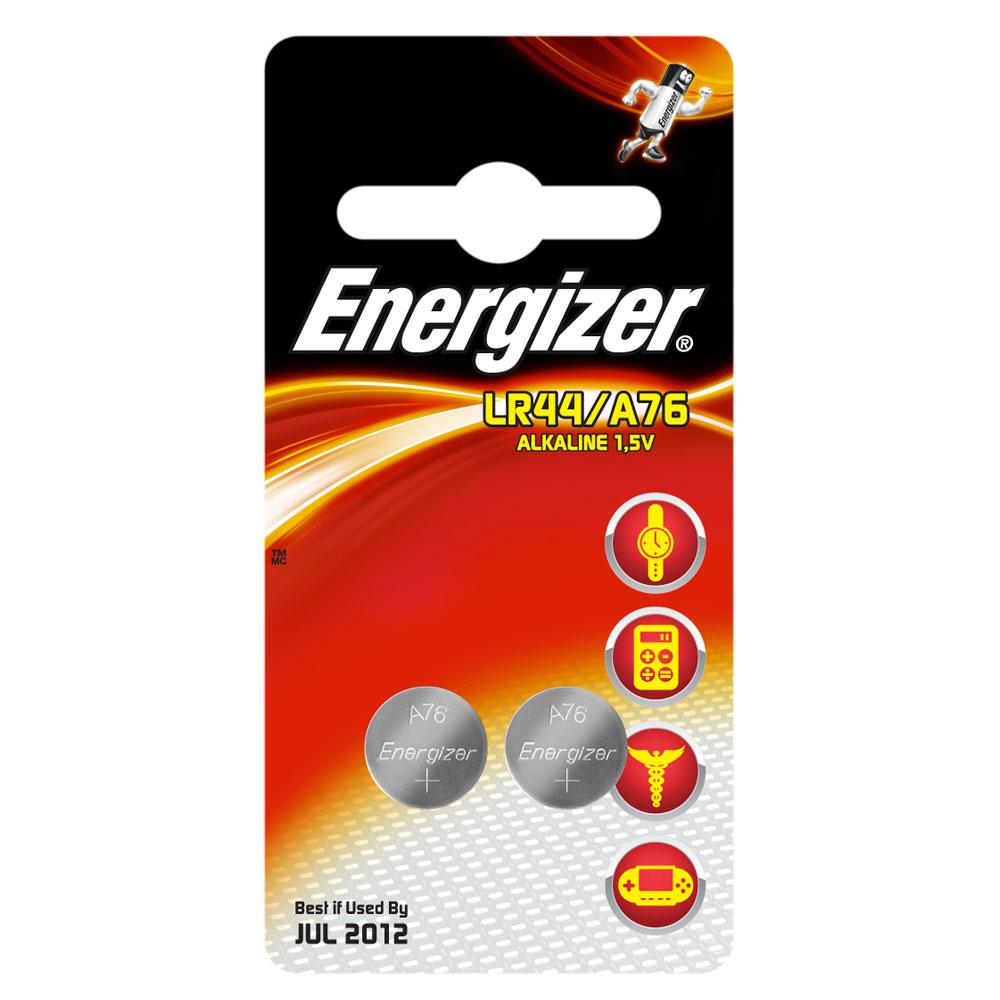 Pile bouton Energizer A76 / LR44 Alkaline 1.5V (par 2) Pack de 2 piles boutons A76 / LR44 alcalines