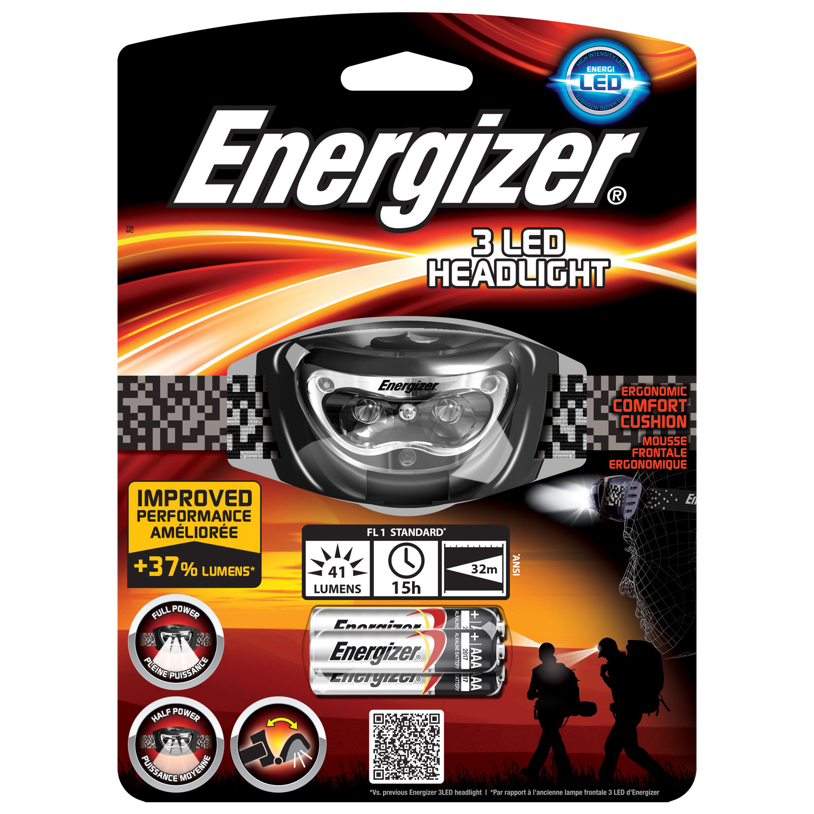 energizer 3 led headlight lampe energizer sur ldlc. Black Bedroom Furniture Sets. Home Design Ideas