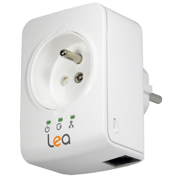 CPL Lea NetSocket 500 Mini Mini adaptateur CPL 500 Mbps avec prise filtrée