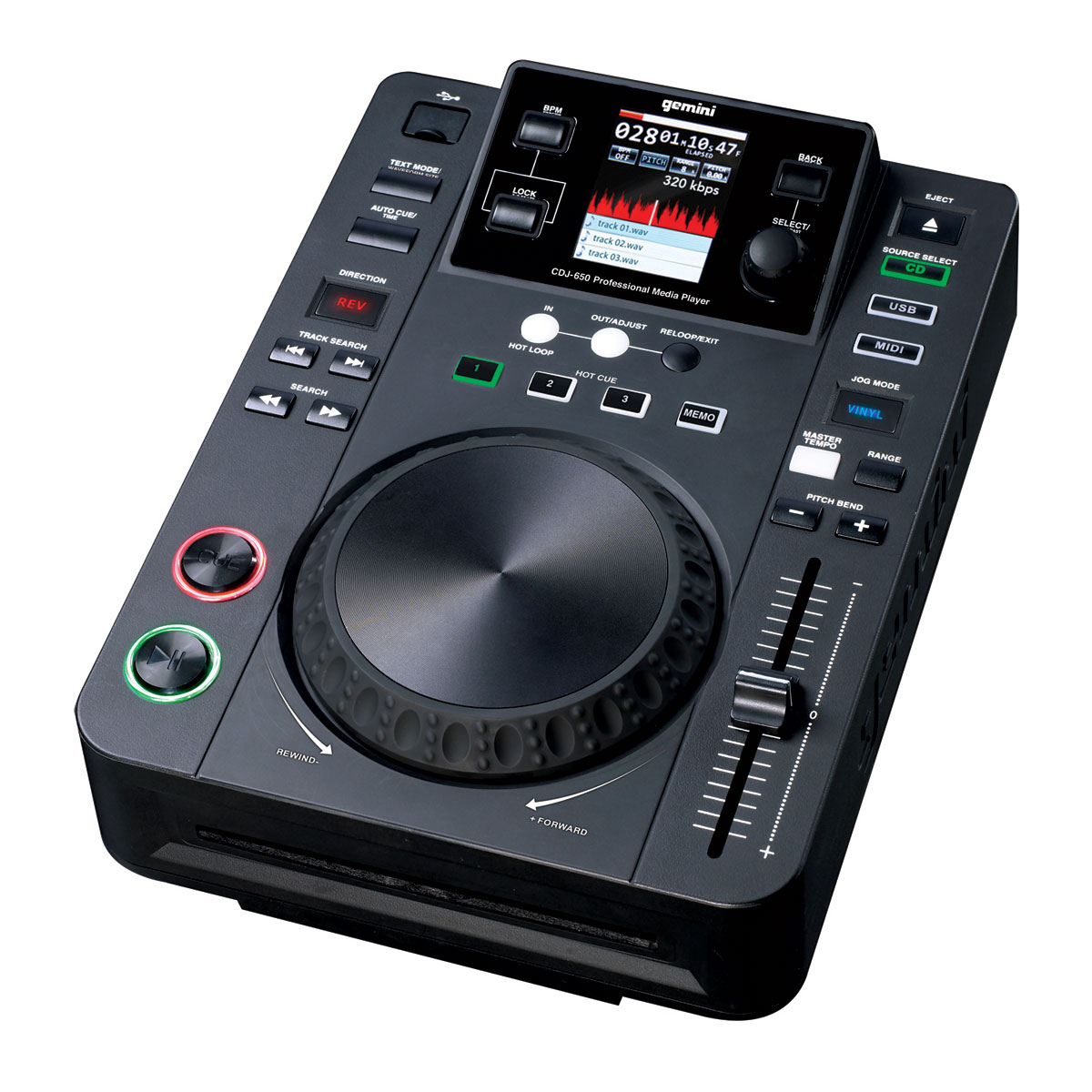 gemini cdj 650 table de mixage gemini sur ldlc. Black Bedroom Furniture Sets. Home Design Ideas