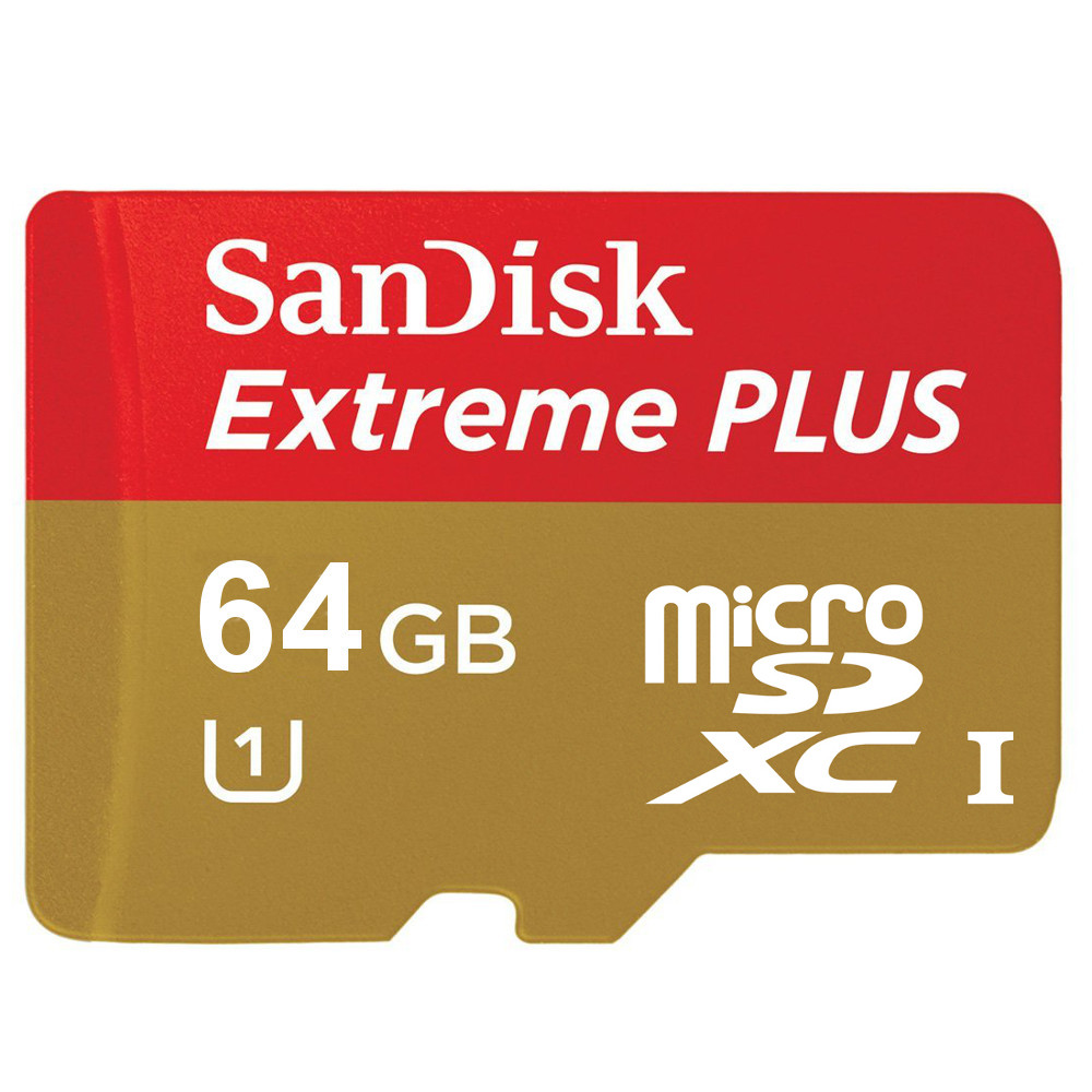 sandisk carte m moire microsdxc extreme plus uhs 1 64 go adaptateur sd carte m moire sandisk. Black Bedroom Furniture Sets. Home Design Ideas