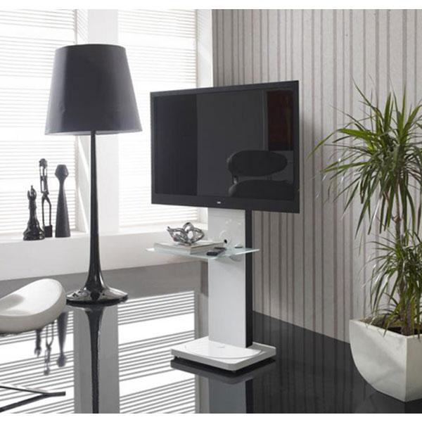 Gisan fs121bl blanc fs121bl achat vente meuble tv for Erard archi colonne blanc