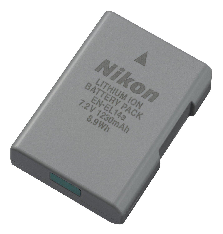 Batterie appareil photo Nikon EN-EL14a Accu Lithium-Ion compact et rechargeable (pour D3300 / D5300)