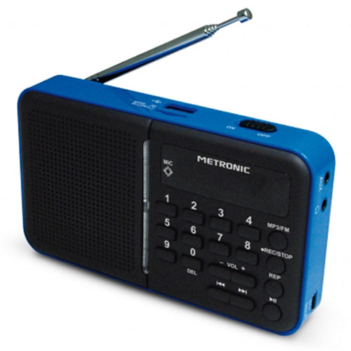 metronic radio portable mp3 bleu radio radio r veil metronic sur ldlc. Black Bedroom Furniture Sets. Home Design Ideas