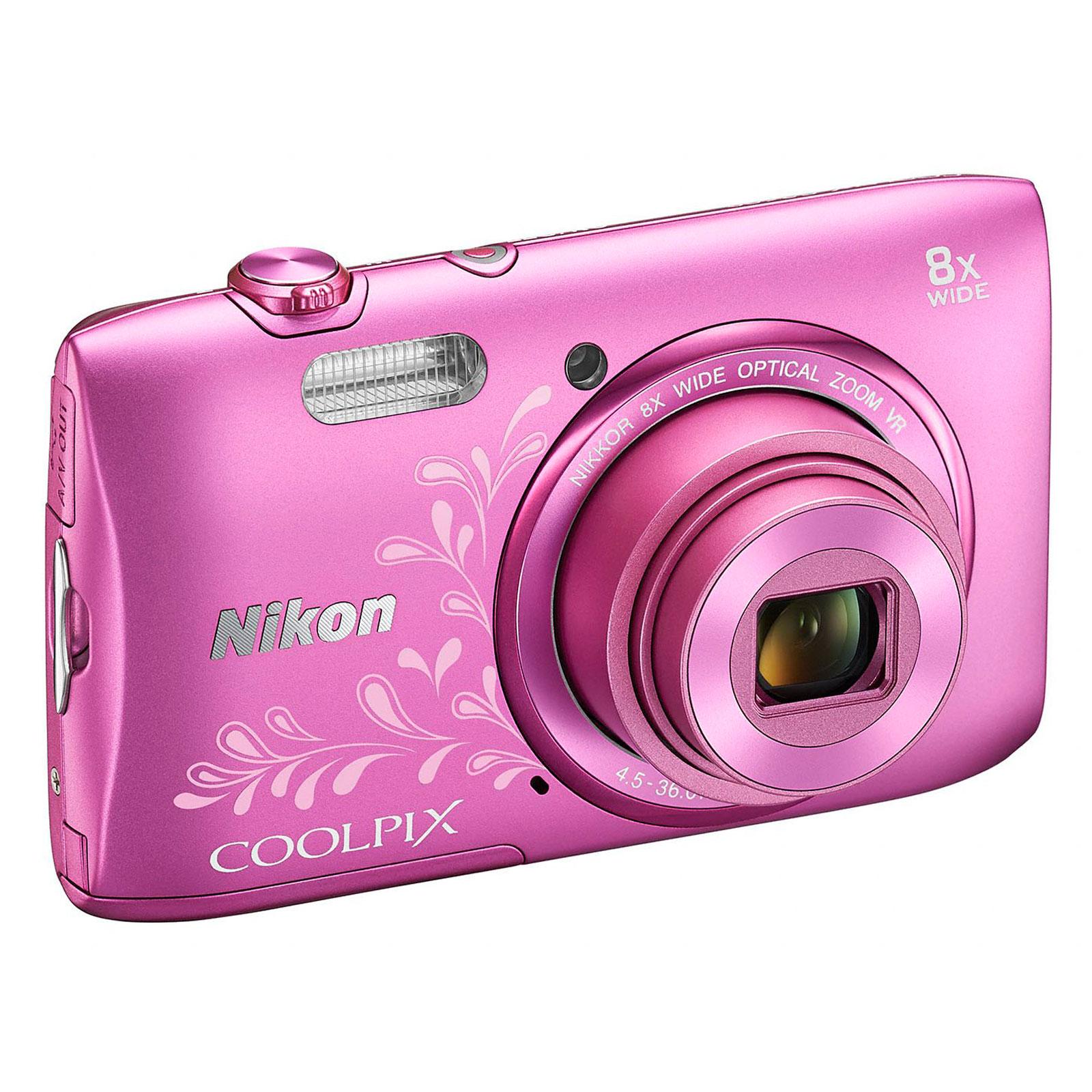 nikon coolpix s3600 rose lineart vna 555 e1 achat vente appareil photo num rique sur. Black Bedroom Furniture Sets. Home Design Ideas