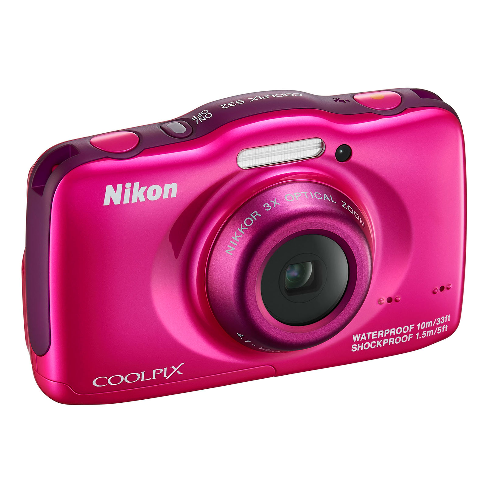 nikon coolpix s32 rose appareil photo num rique nikon sur ldlc. Black Bedroom Furniture Sets. Home Design Ideas