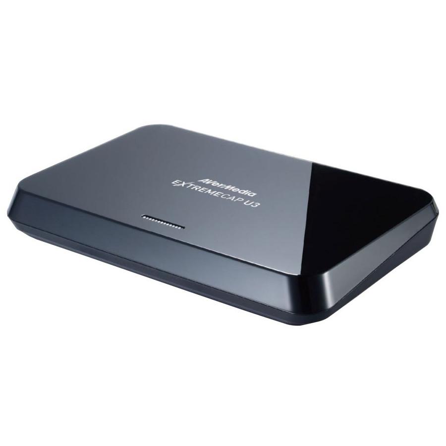 Carte d'acquisition AVerMedia ExtremeCap U3 Boîtier d'enregistrement et de streaming Full HD 1080p 60fps pour PC, Mac et consoles de jeux (USB 3.0)