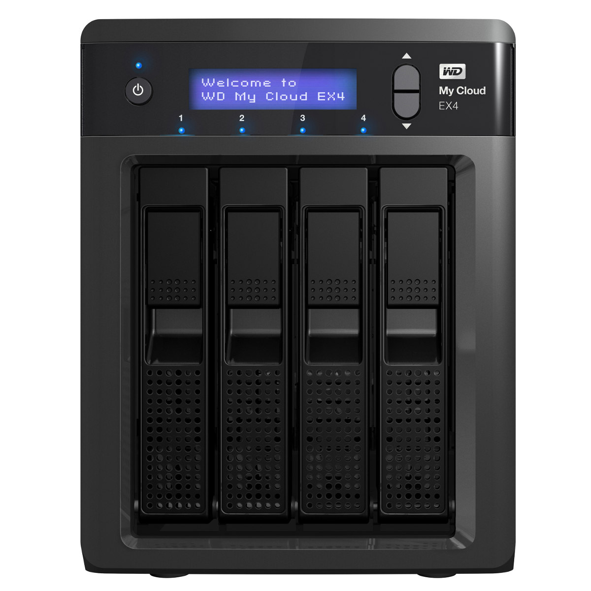 Serveur NAS WD My Cloud EX4 8 To (4 x 2 To) Serveur de stockage multimédia 4 baies