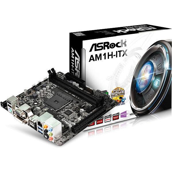 Carte mère ASRock AM1H-ITX Carte mère Mini ITX Socket AM1 - DVI/HDMI/DisplayPort - SATA 6Gb/s - USB 3.0 - 1x PCI Express 2.0 16x