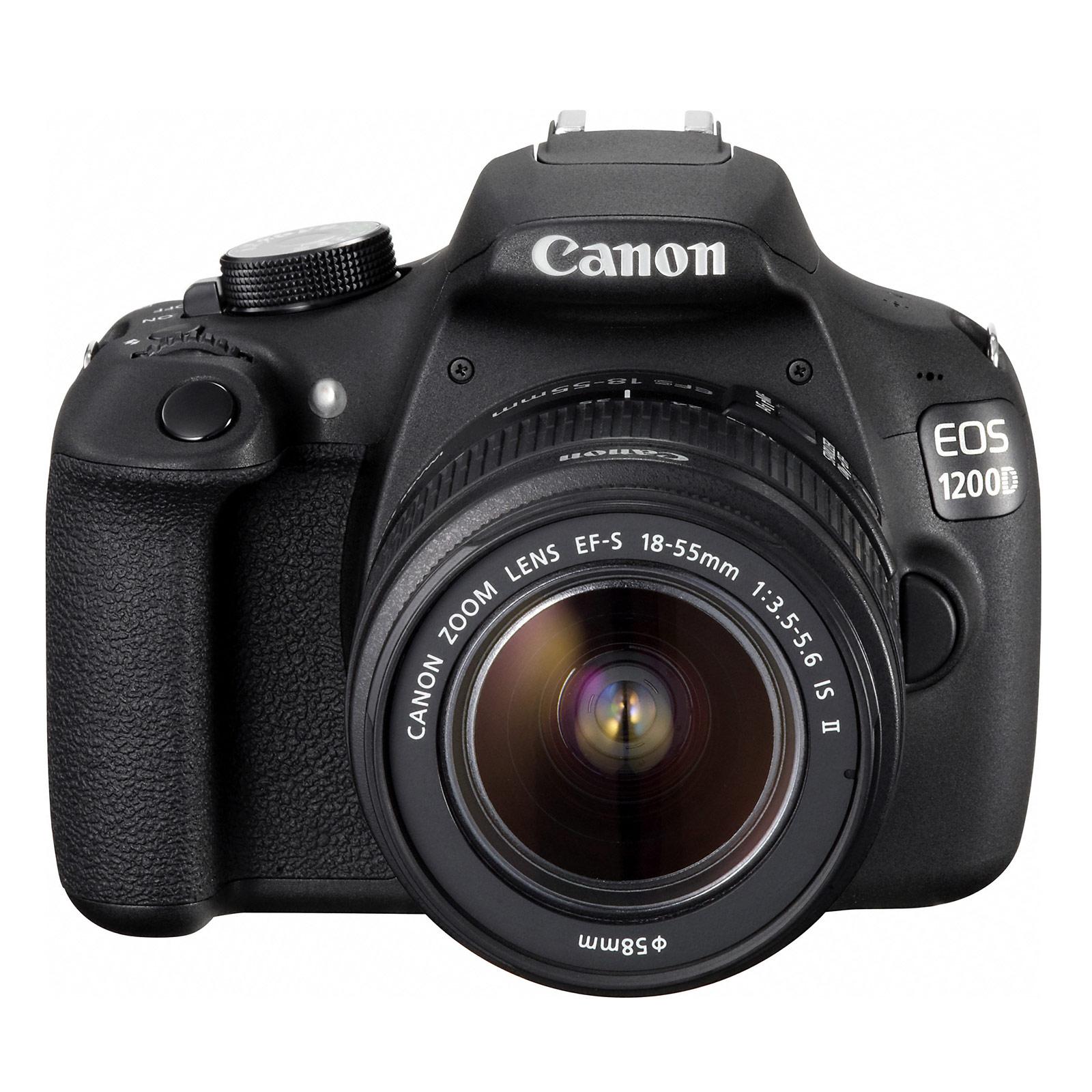 Canon eos 1200d objectif ef s 18 55mm is ii appareil for Ecran appareil photo canon