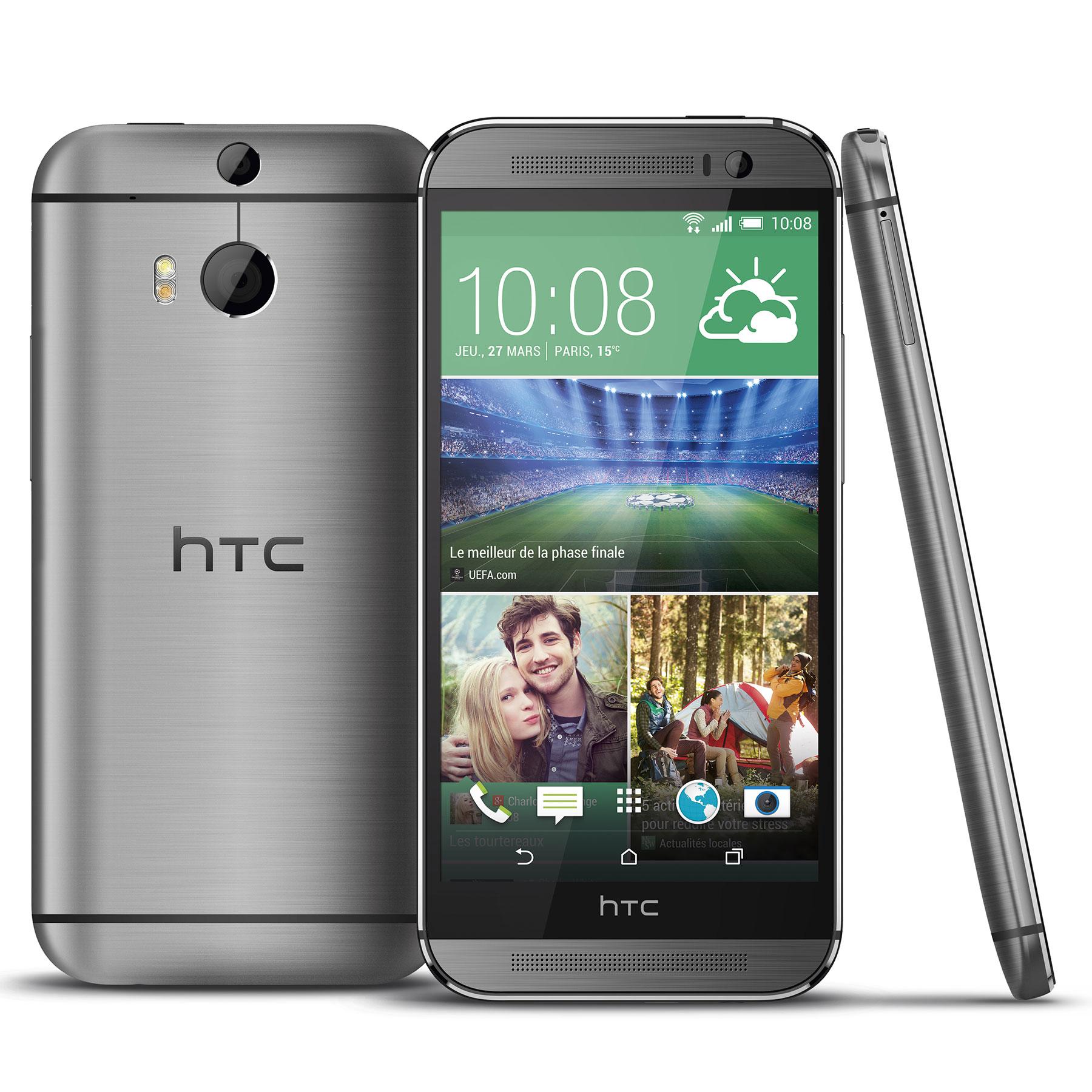 """Mobile & smartphone HTC One M8 Gris Acier 16 Go Smartphone 4G-LTE NFC avec écran tactile Full HD 5"""" sous Android 4.4"""
