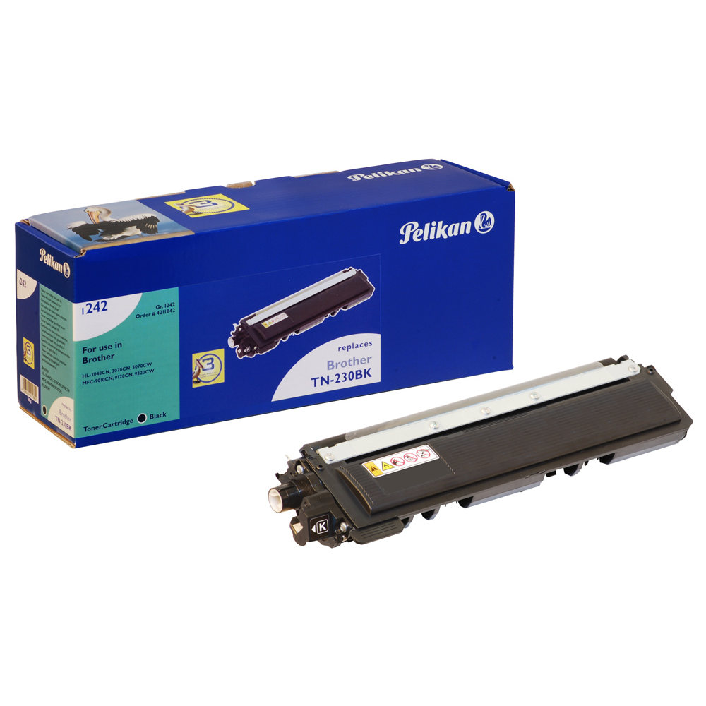 Toner imprimante Pelikan toner compatible TN-230BK (noir) Toner noir compatible Brother TN230BK (2 200 pages à 5%)