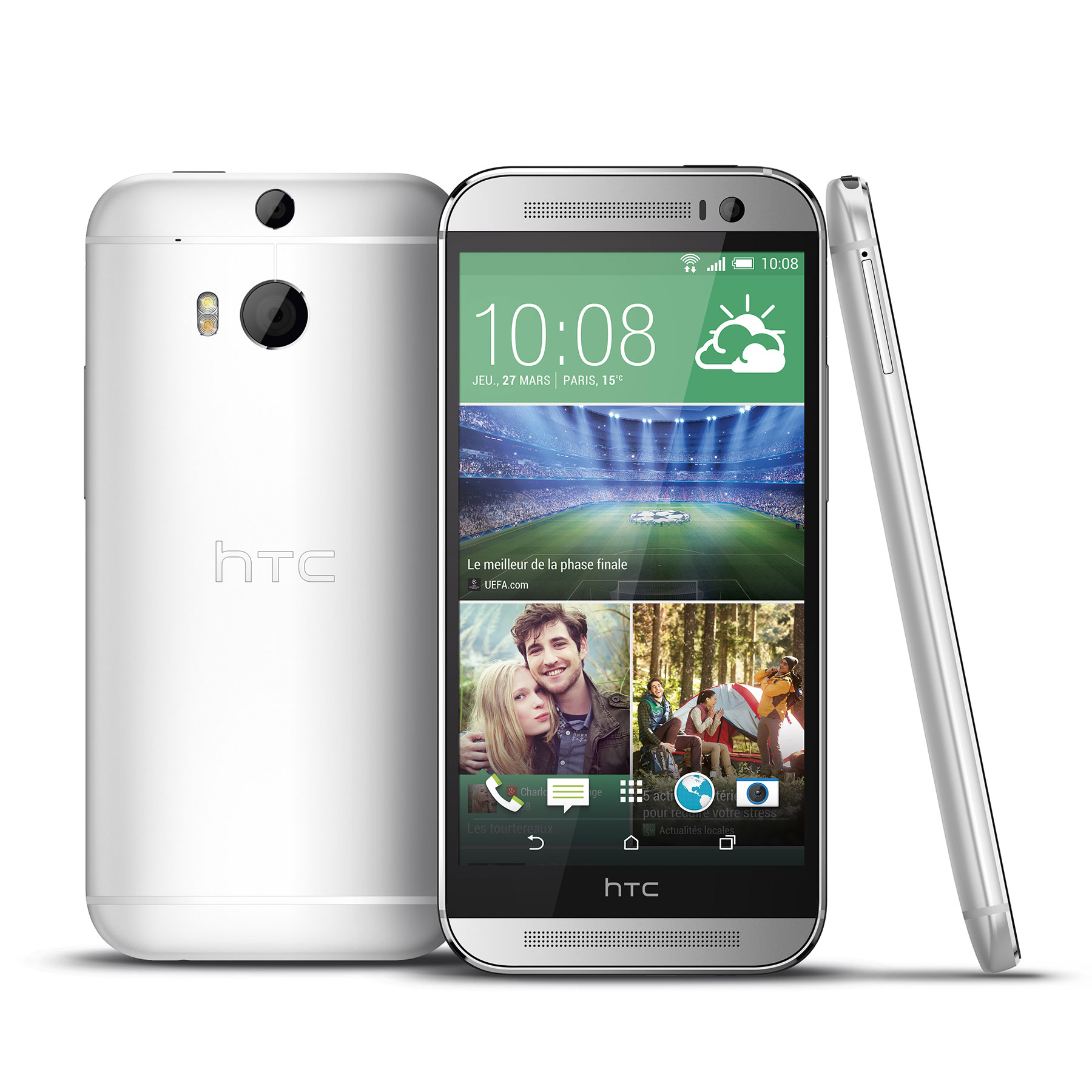 Htc one m8 argent 16 go mobile smartphone htc sur ldlc for Photo ecran htc