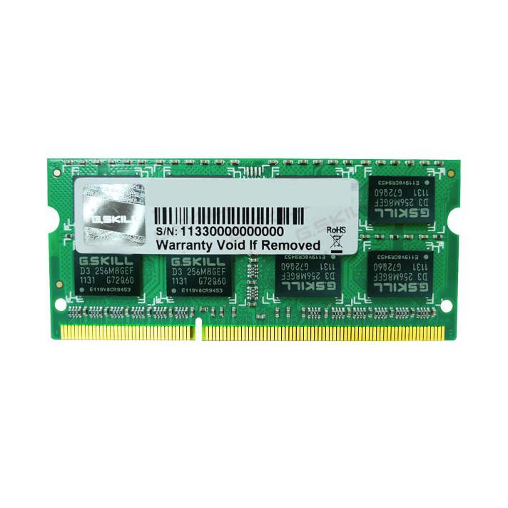 Mémoire PC portable G.Skill SO-DIMM 4 Go DDR3 1333 MHz CL9 RAM SO-DIMM PC3-10600 - F3-1333C9S-4GSA