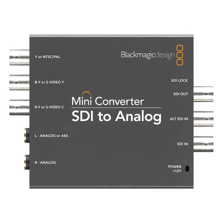 Carte d'acquisition Blackmagic Design Mini Converter SDI to Analog Mini convertisseur SDI vers Analogique