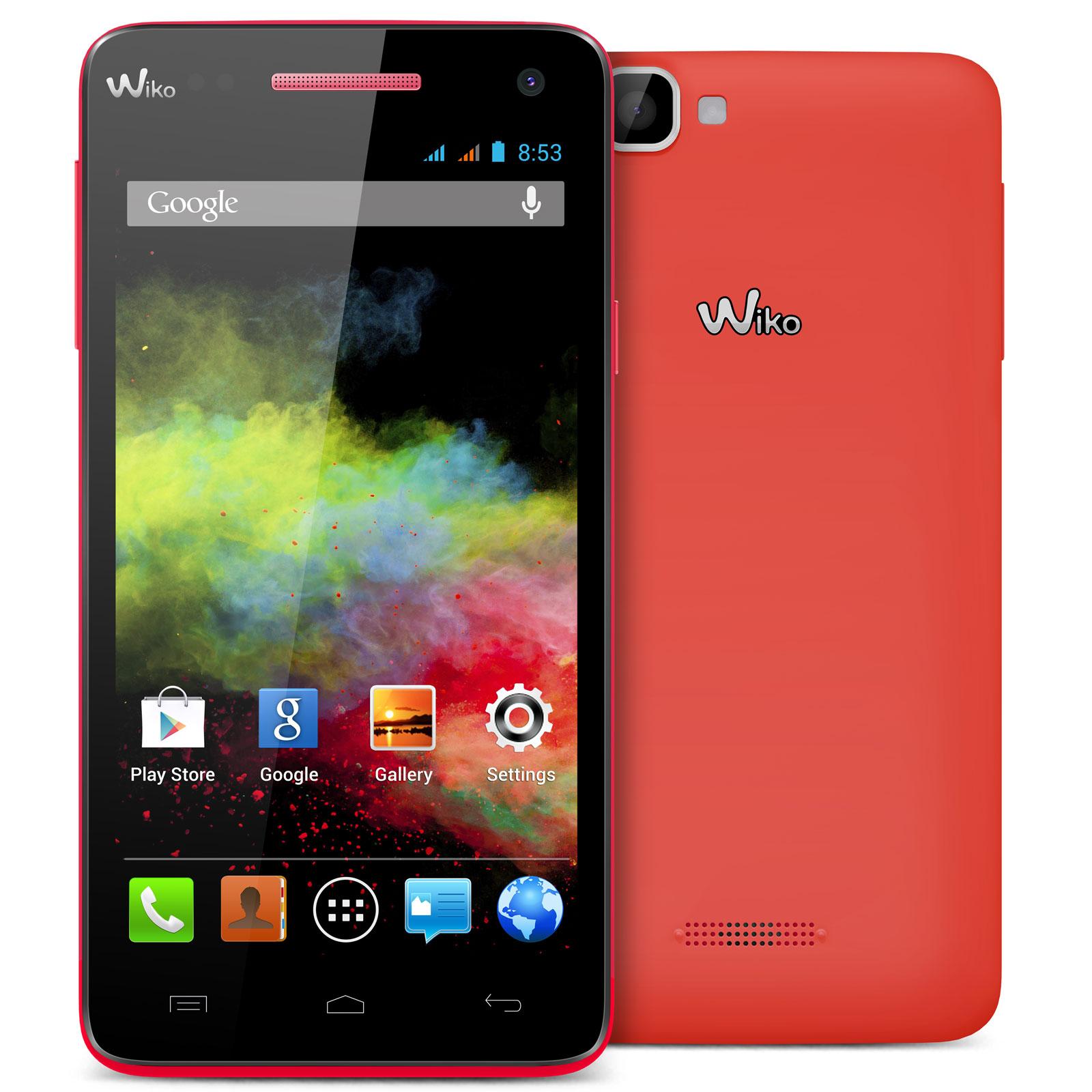 """Mobile & smartphone Wiko Rainbow Corail Smartphone 3G+ Dual SIM avec écran tactile HD 5"""" sous Android 4.2"""