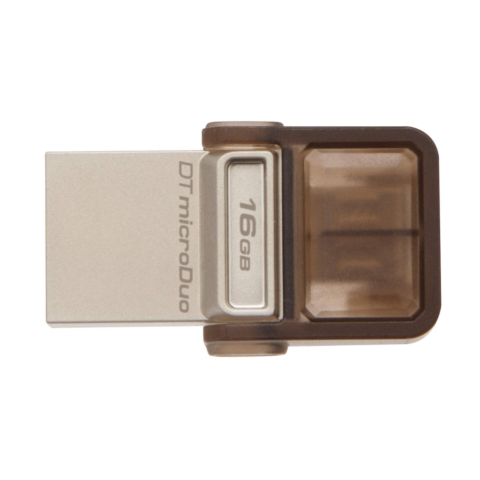 Clé USB Kingston DataTraveler microDuo 16 Go Clé USB 2.0 et MicroUSB 16 Go (garantie constructeur 5 ans)