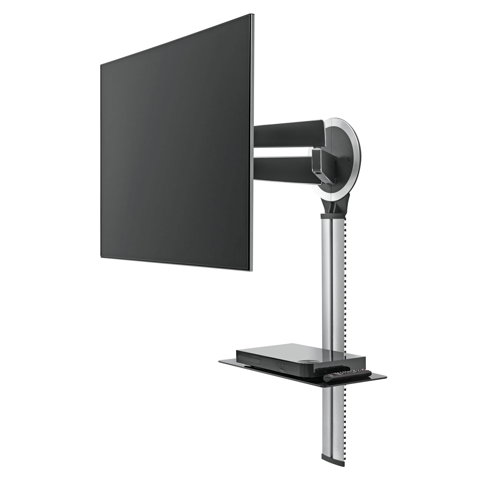Support mural tv etagere - Support mural tv avec cache cable ...