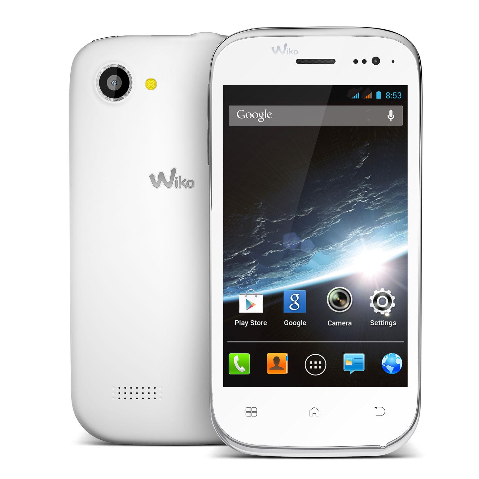 Wiko cink slim 2 blanc mobile smartphone wiko sur ldlc for Photo ecran wiko