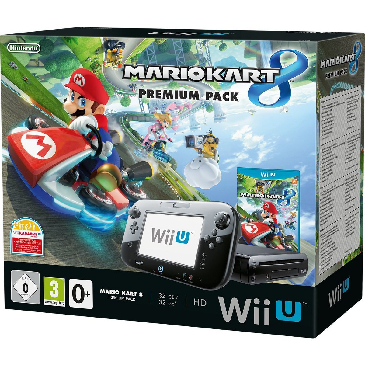 nintendo wii u 32 go premium pack mario kart 8 2301132. Black Bedroom Furniture Sets. Home Design Ideas