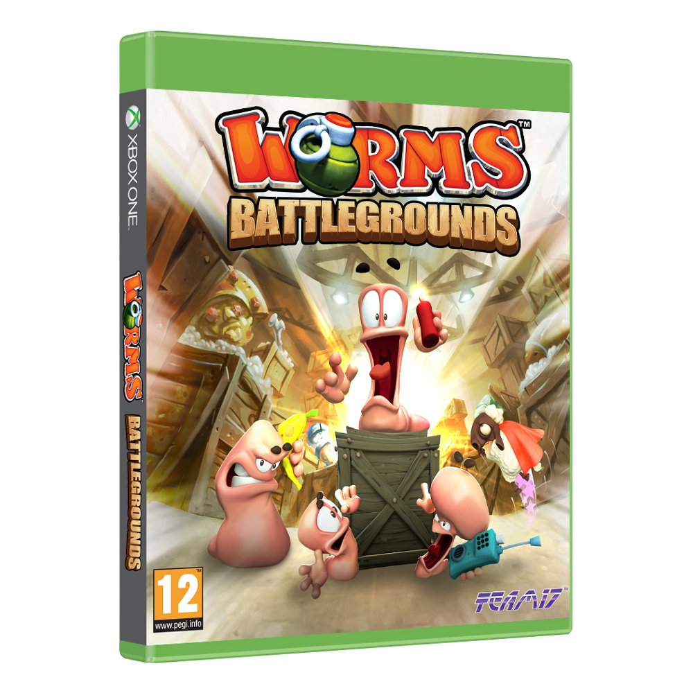 worms battlegrounds xbox one es05792 achat vente jeux xbox one sur. Black Bedroom Furniture Sets. Home Design Ideas