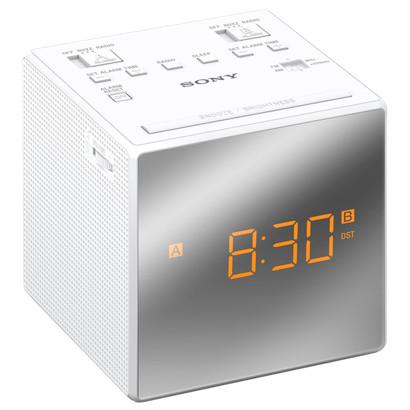 Radio & radio réveil Sony ICF-C1T Blanc Radio réveil avec tuner intégré